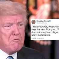 trump shadow banning