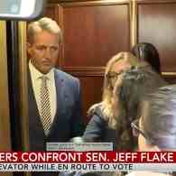 flake confronted