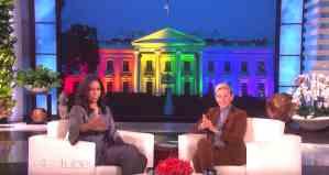 Michelle Obama Ellen snuck out of white hosue