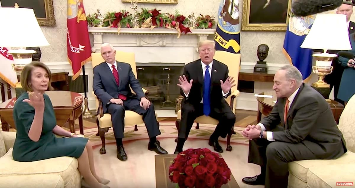 one-upmanship, Trump Pelosi, Pence, Schumer
