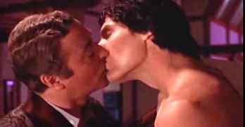 Michael Caine Christopher Reeve kiss