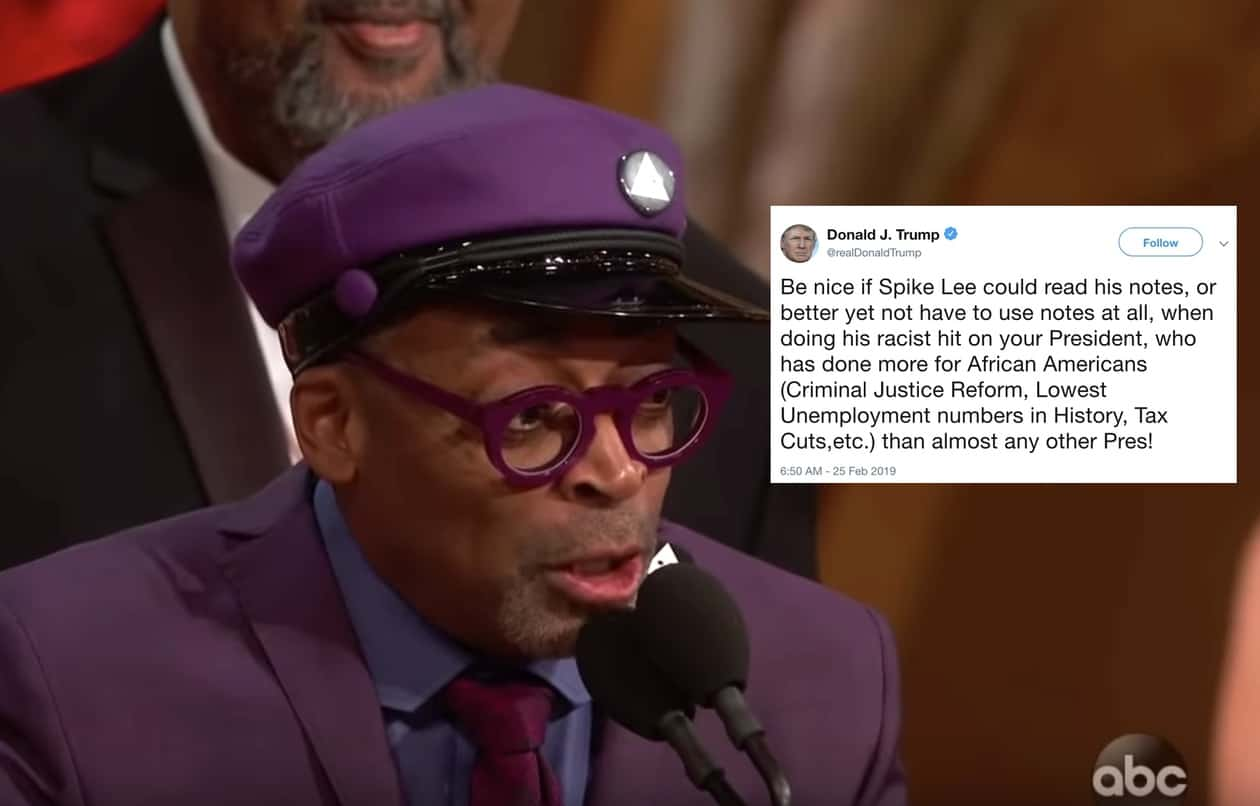 Trump Attacks Spike Lee for Taking 'Racist Hit' on Him at ...