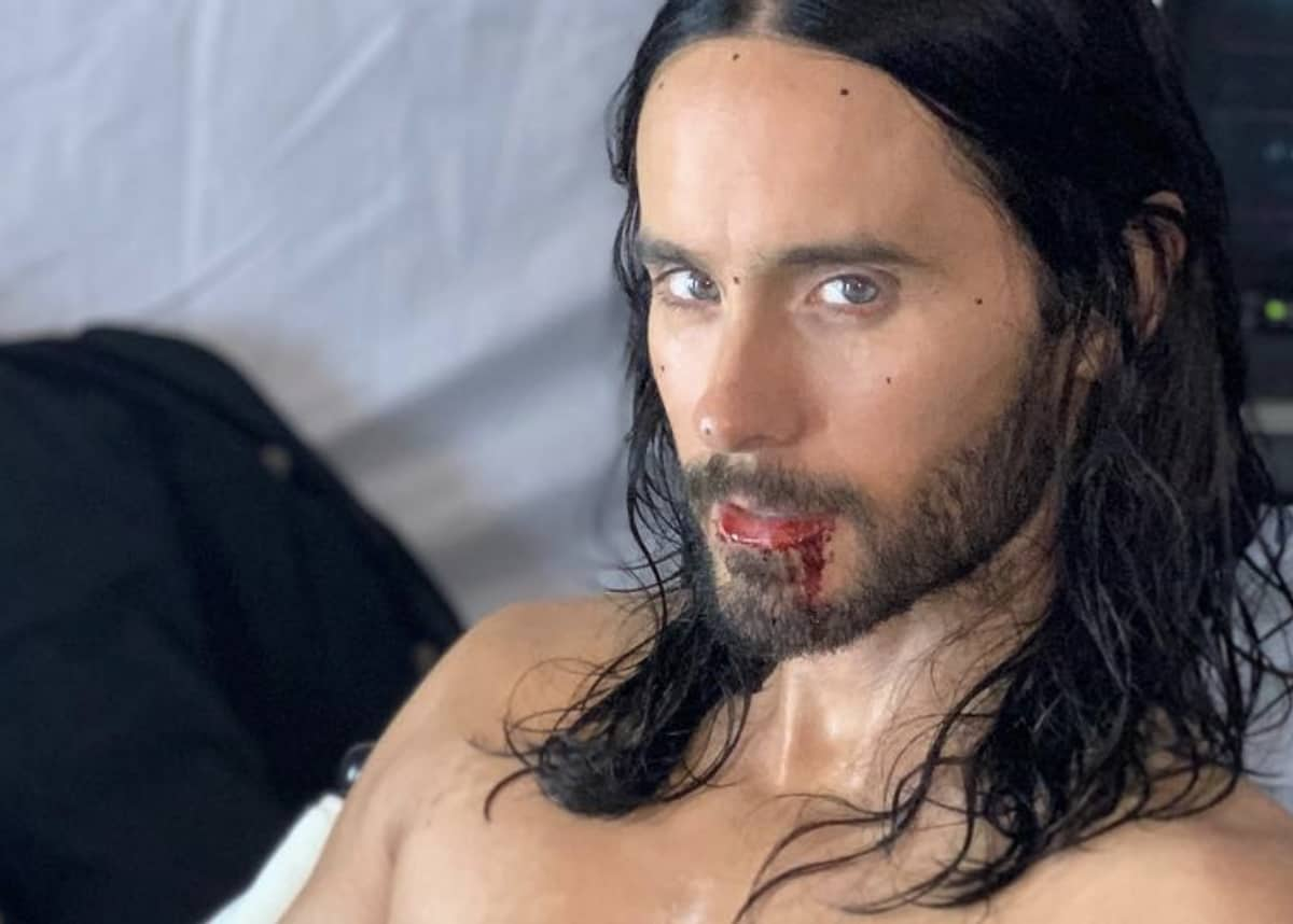 Jared Leto Morbius >> Jared Leto Shares A Snacky Thirst Trap From The Set Of