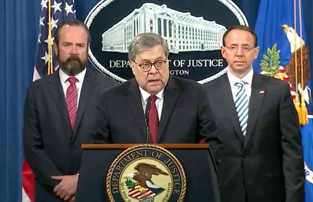 Barr press conference