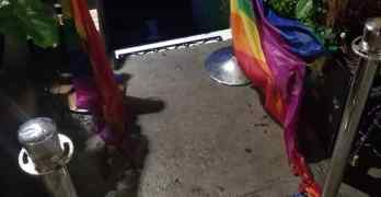 pride flags burned