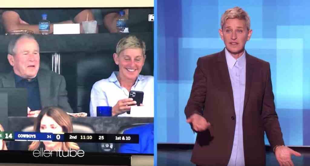 George W Bush Ellen DeGeneres
