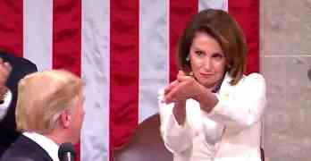 Nancy Pelosi clap