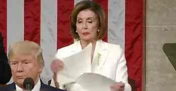 pelosi ripping speech