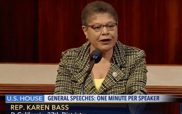 Rep Karen Bass addresses Scientology's past accolades