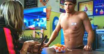 Robbie Amell shirtless