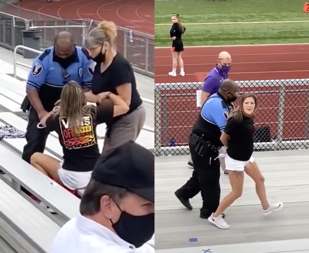 Woman Tased, Arrested for Trespassing for Not Wearing Mask at Football Game