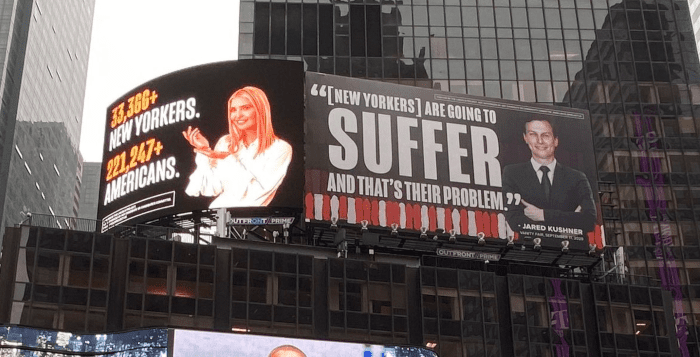 Jared & Ivanka Threaten to Sue Over Times Square Billboards