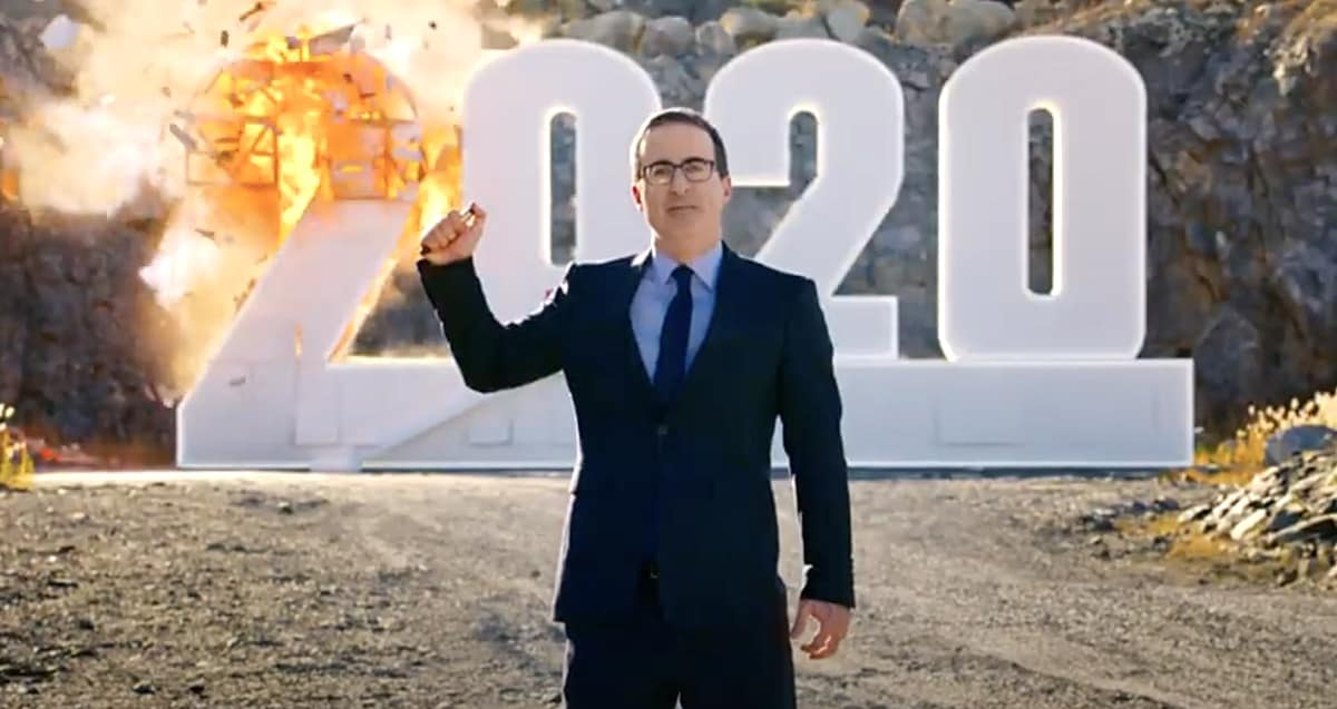 John Oliver Closes Season Finale by Incinerating 2020: WATCH - Towleroad  Gay News