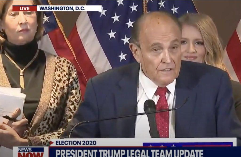 Rudy Giuliani hair dye