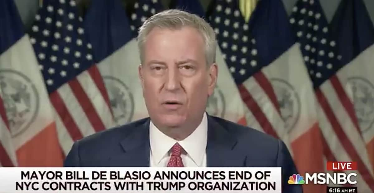 New York City Terminating Contracts With Trump Organization, Mayor Announces on MSNBC