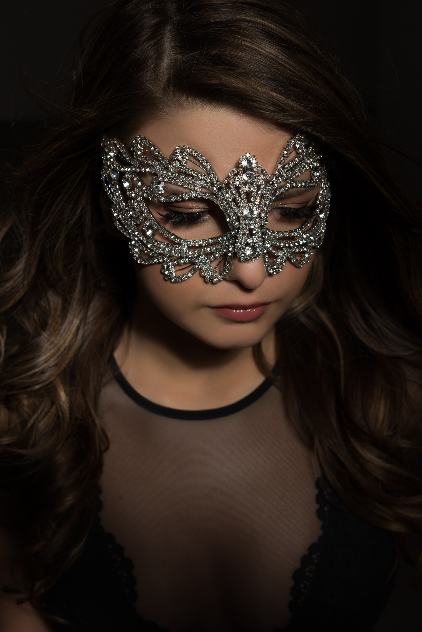 Crystal Mask on Iowa City Senior Alivia