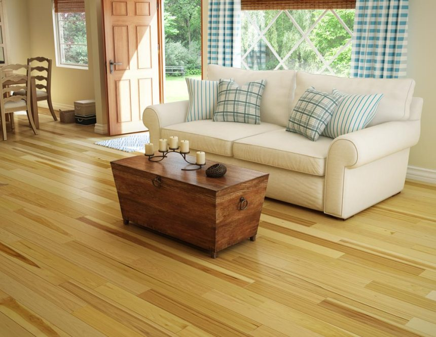 "Preverco Hickory Variation With Knots 5 3/16"" wide"