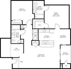 2 Bed / 2 Bath / 1,183-1,314 / Rent: Please Call