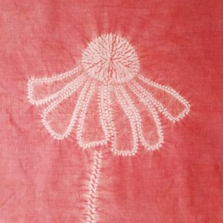 Shibori Stitch Resist Helenium Flower