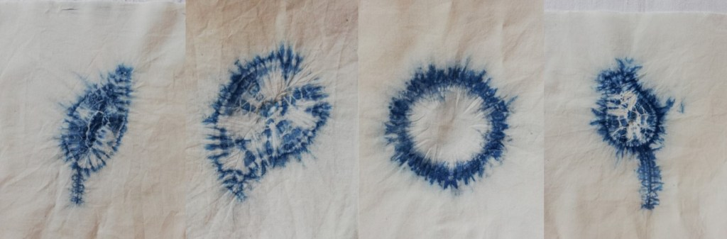 4 shibori shapes