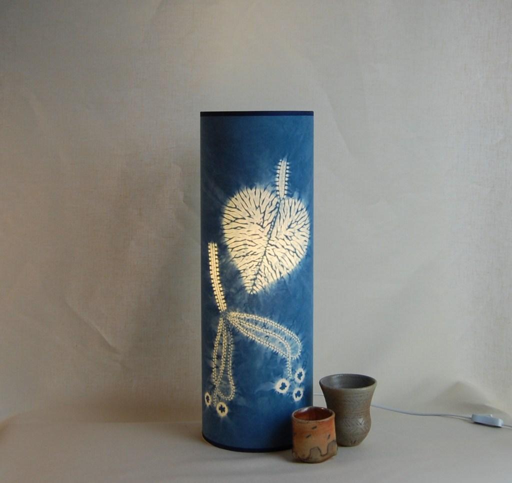 60cm x 20cm indigo lime leaf lamp