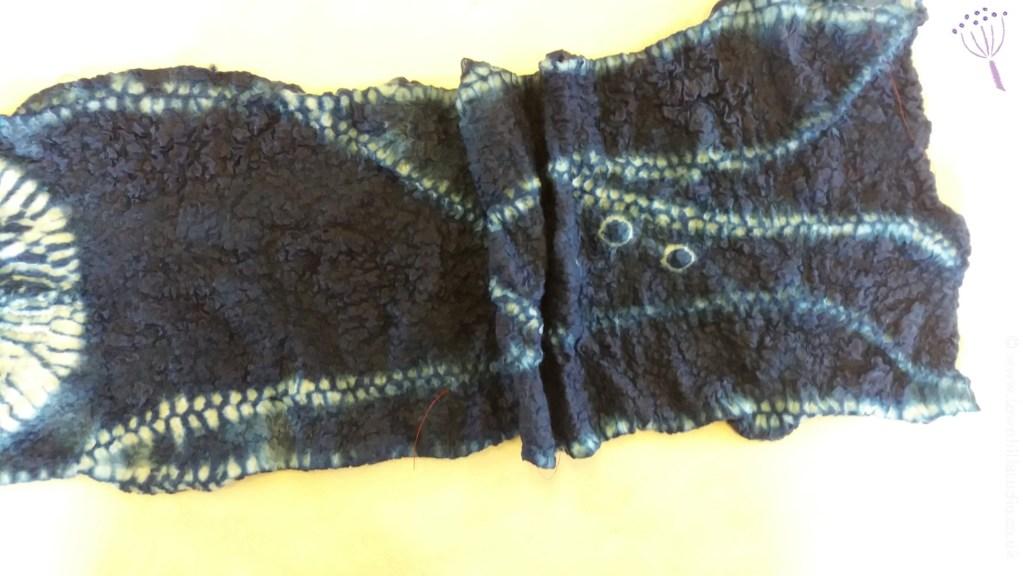 Ali's scarf shibori on nuno felt (2)
