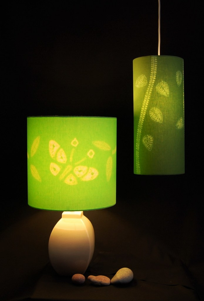 Butterfly and leaf design lampshades