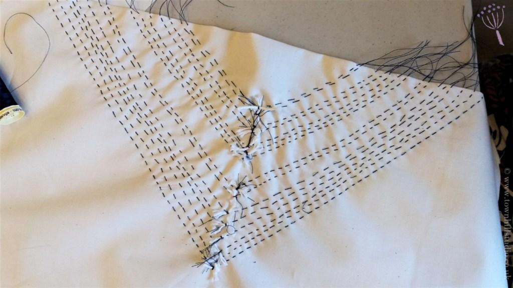 Marys diamond shibori pattern stitching