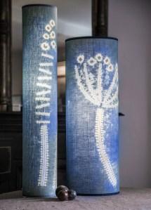 Indigo blue lamps