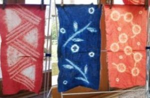 3 shibori stitch resist fabrics