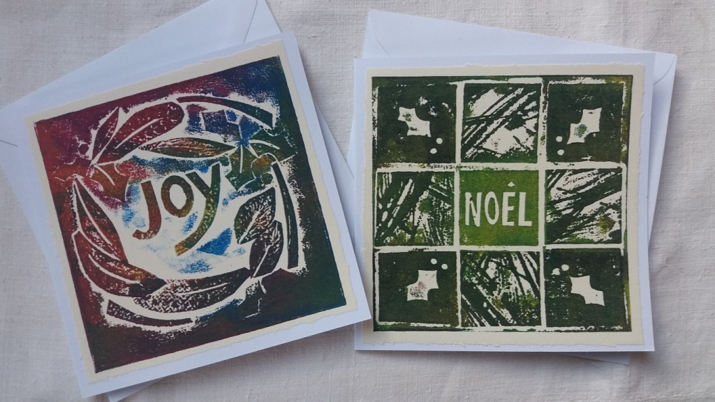 collagraph christmas cards 2
