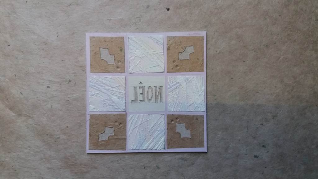 collagraph plate ready for printing