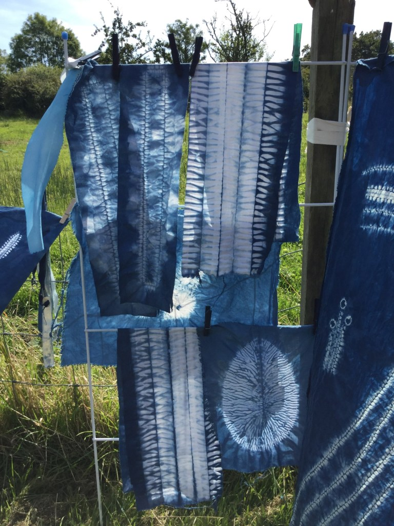 collection of shibori pieces