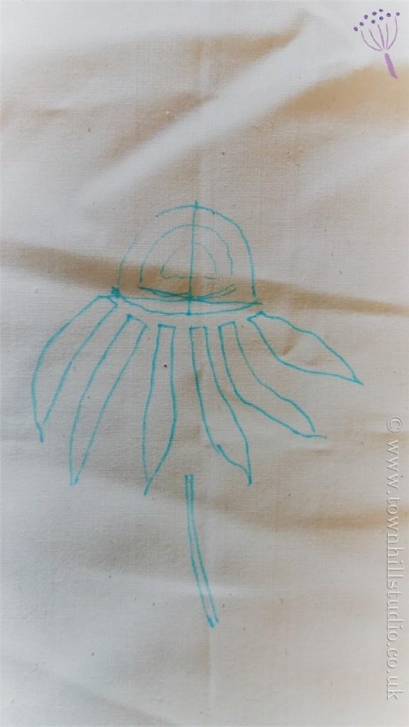 guntai shibori echinacea 1
