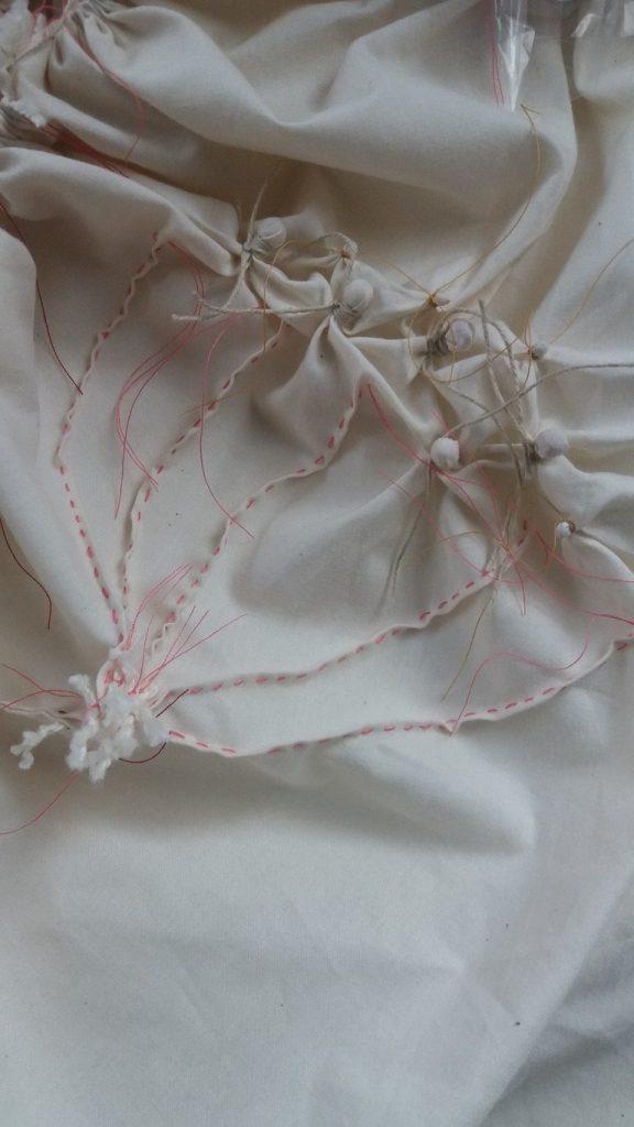 shibori hogweed stitching