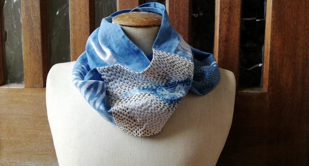 Image of shibori mended scarf