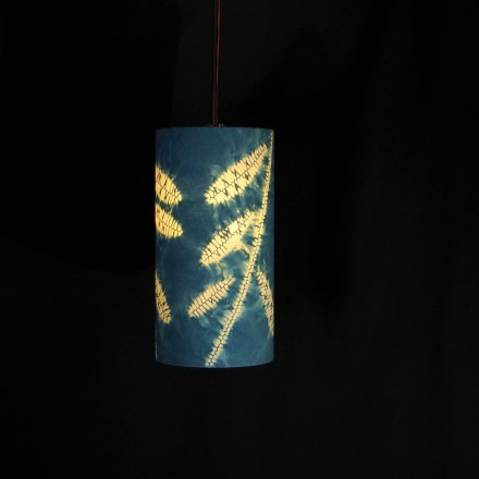 pendant indigo leaves 1