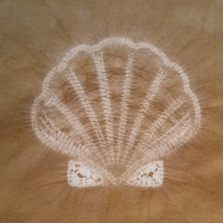 scallop shell shibori design