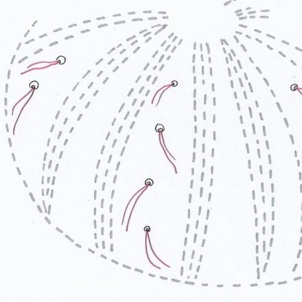 Detail of shibori stitching