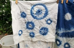 The secret of creating blue on white shibori circles