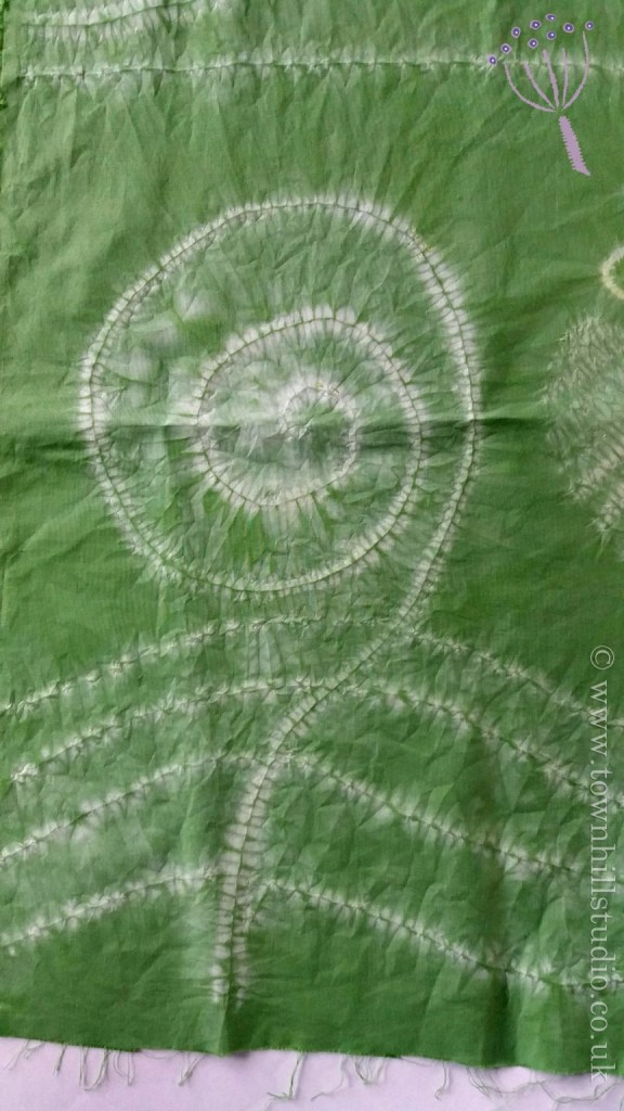 shibori green fern