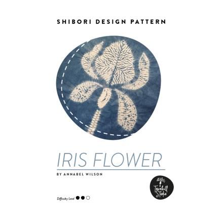 Front page of shibori iris flower pattern