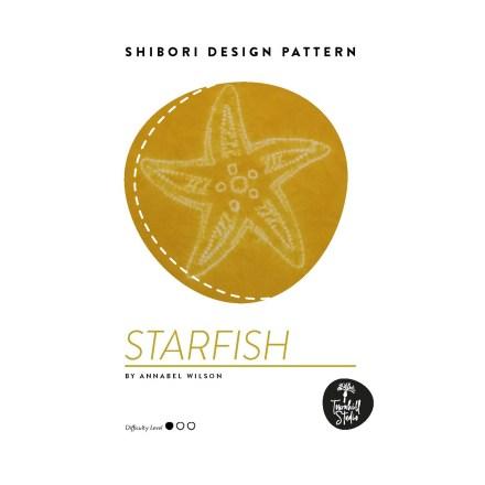 front cover image of shibori starfish PDF pattern