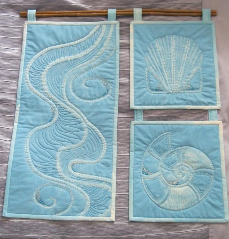 Embellished shibori stitch resist