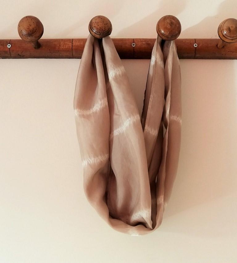 shibori stitch resist scarf (1)