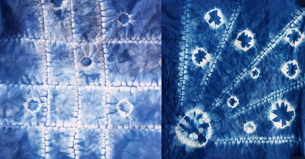 shibori techniques circles and lines