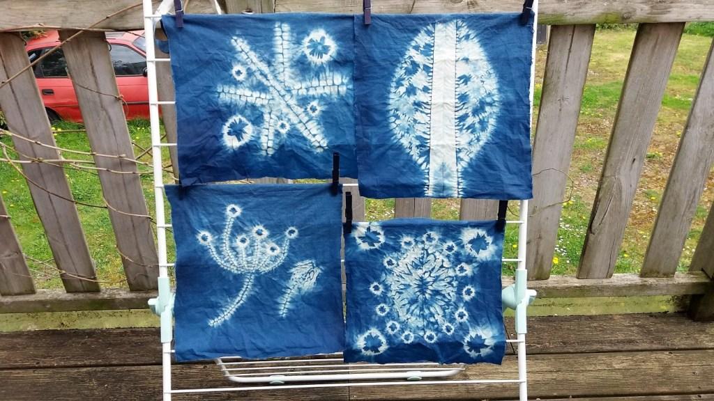 shibori workshop 4 first designs