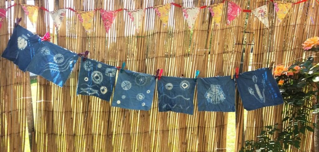 shibori workshop in the garden