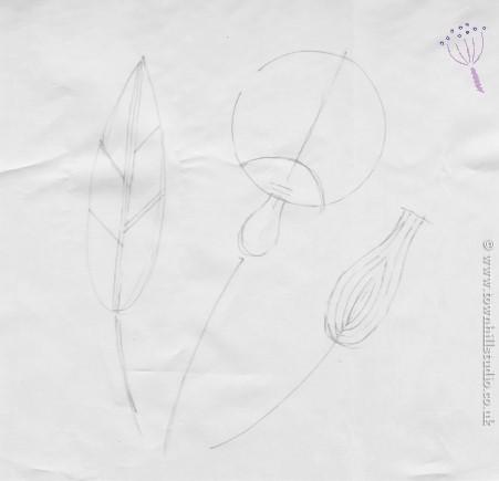 sketch for shibori design