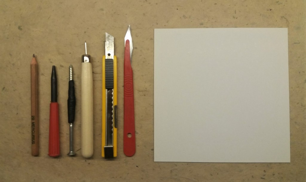 tools for making a collagraph plate 1